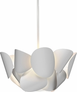 Sonneman 2645-03 Lotus Contemporary Satin White LED 25  Hanging Light