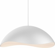 Sonneman 2673-03W Waveforms Contemporary Satin White LED Drop Lighting Fixture