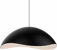 Sonneman 2673-25W Waveforms Modern Satin Black LED Lighting Pendant