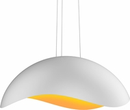Sonneman 2674-03A Waveforms Contemporary Satin White LED Pendant Lamp