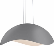 Sonneman 2674-18W Waveforms Contemporary Dove Grey LED Hanging Light