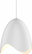 Sonneman 2675-03W Waveforms Contemporary Satin White LED Hanging Pendant Light
