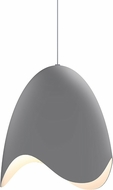 Sonneman 2675-18W Waveforms Modern Dove Grey LED Pendant Hanging Light