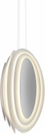 Sonneman 2697.98 Abstract Rhythms Contemporary Textured White LED Pendant Light