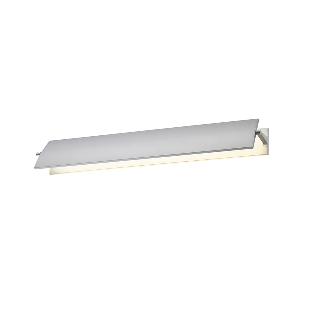 Contemporary Led Vanity Lights : Sonneman 2702.16 Aileron Contemporary Bright Satin Aluminum LED 24