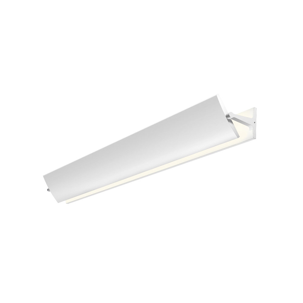 Vanity Led Fixtures : Sonneman 2704.98 Aileron Modern Textured White LED 36