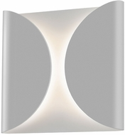 Sonneman 2710.74.WL Folds Contemporary Textured Gray LED Interior/Exterior Lighting Sconce