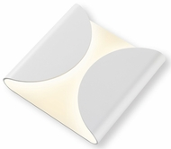 Sonneman 2710.98.WL Folds Modern Textured White LED Indoor/Outdoor Lamp Sconce