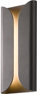 Sonneman 2711.72.WL Folds Contemporary Textured Bronze LED Interior/Exterior Wall Sconce Lighting
