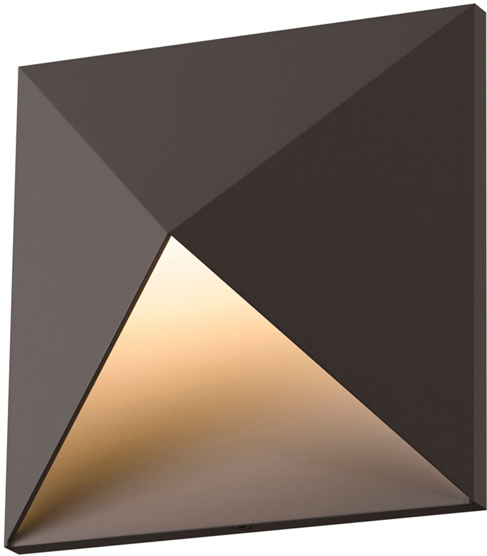 Contemporary Led Wall Sconces : Sonneman 2714-72-WL Prism Contemporary Textured Bronze LED Interior/Exterior Wall Light Sconce ...