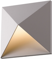 Sonneman 2714.74.WL Prism Modern Textured Gray LED Indoor/Outdoor Wall Lighting Fixture