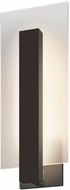 Sonneman 2725.72.WL Midtown Modern Textured Bronze LED Interior/Exterior Lighting Sconce