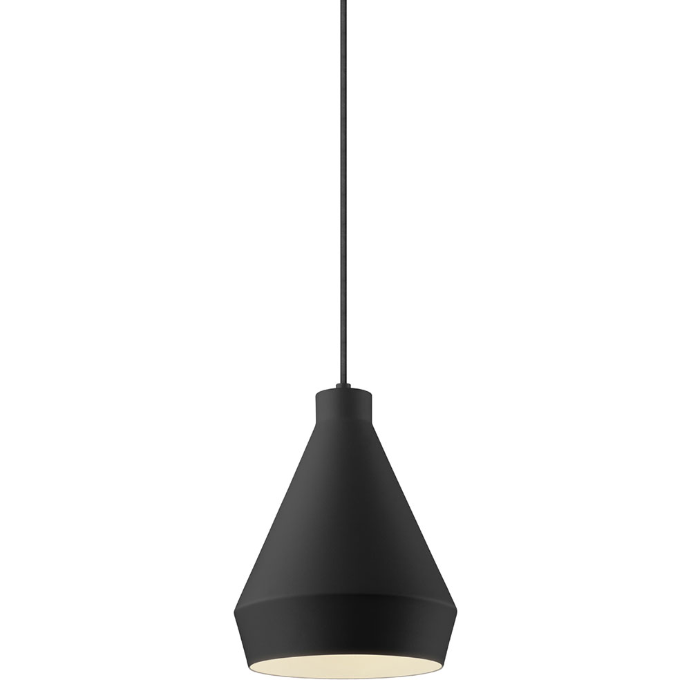Sonneman koma modern satin black led mini pendant Modern pendant lighting