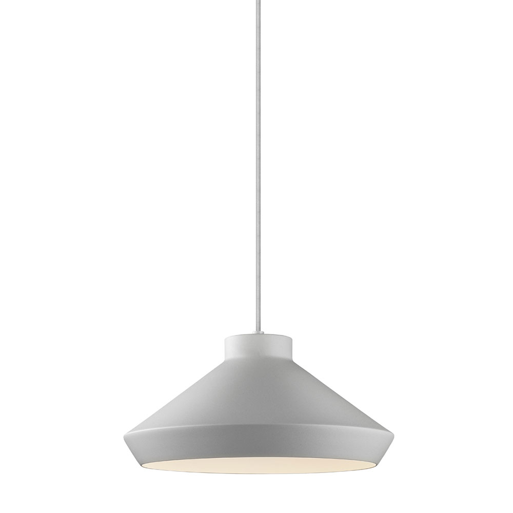Sonneman koma modern bright satin aluminum led for Modern hanging pendant lights