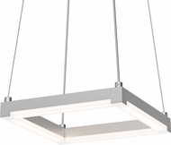 Sonneman 2785.16 Stix Square Modern Bright Satin Aluminum LED Lighting Pendant