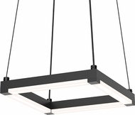 Sonneman 2785.25 Stix Square Contemporary Satin Black LED Pendant Lamp