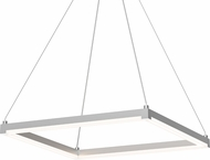 Sonneman 2786-16 Stix Square Modern Bright Satin Aluminum LED Hanging Lamp
