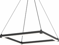 Sonneman 2786-25 Stix Square Contemporary Satin Black LED Hanging Light