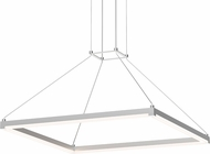 Sonneman 2787-16 Stix Square Modern Bright Satin Aluminum LED Pendant Light Fixture