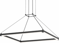 Sonneman 2787-25 Stix Square Contemporary Satin Black LED Pendant Lighting Fixture