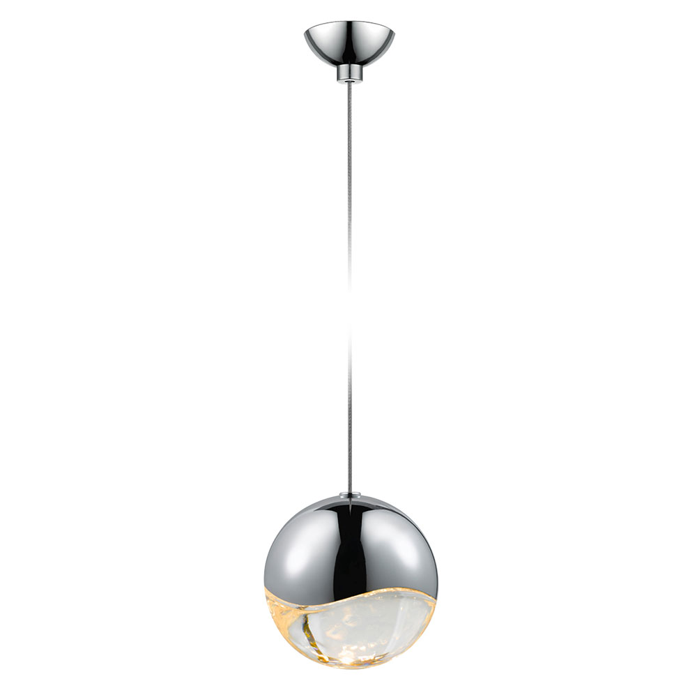 Large Contemporary Ceiling Lights : Sonneman lrg grapes contemporary polished chrome
