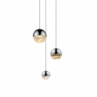 Sonneman 2914.01.AST Grapes Contemporary Polished Chrome LED Assorted Multi Lighting Pendant