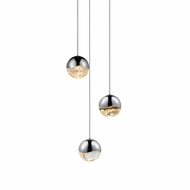 Sonneman 2914.01.MED Grapes Contemporary Polished Chrome LED Medium Multi Hanging Lamp