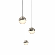 Sonneman 2914.13.AST Grapes Contemporary Satin Nickel LED Assorted Multi Pendant Light Fixture