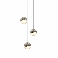 Sonneman 2914.13.MED Grapes Contemporary Satin Nickel LED Medium Multi Hanging Pendant Lighting