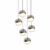 Sonneman 2915.13.LRG Grapes Modern Satin Nickel LED Large Multi Ceiling Pendant Light