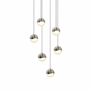 Sonneman 2915.13.SML Grapes Modern Satin Nickel LED Small Multi Drop Lighting Fixture