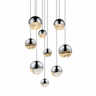 Sonneman 2916.01.AST Grapes Contemporary Polished Chrome LED Assorted Multi Pendant Lighting
