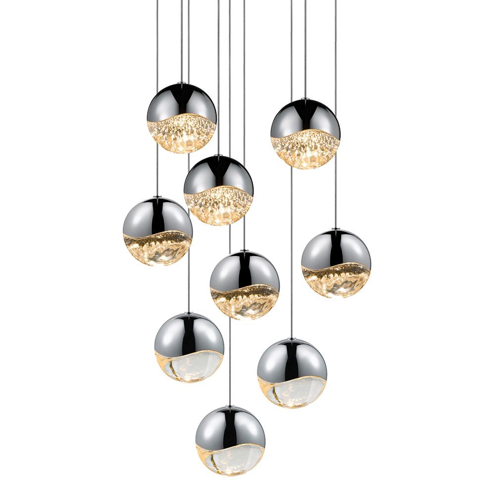 Sonneman Grapes Modern Polished Chrome Led
