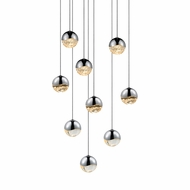 Sonneman 2916.01.SML Grapes Modern Polished Chrome LED Small Multi Pendant Lamp