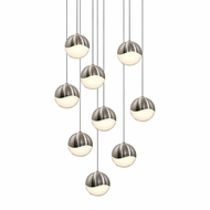 Sonneman 2916.13.MED Grapes Contemporary Satin Nickel LED Medium Multi Pendant Light Fixture