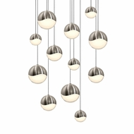Sonneman 2917.13.AST Grapes Contemporary Satin Nickel LED Assorted Multi Drop Lighting
