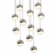 Sonneman 2917.13.MED Grapes Contemporary Satin Nickel LED Medium Multi Ceiling Light Pendant