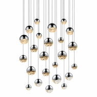 Sonneman 2918.01.AST Grapes Contemporary Polished Chrome LED Assorted Multi Drop Ceiling Light Fixture