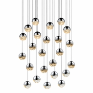 Sonneman 2918.01.MED Grapes Contemporary Polished Chrome LED Medium Multi Pendant Lighting