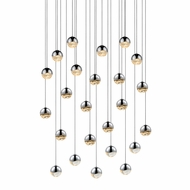 Sonneman 2918.01.SML Grapes Modern Polished Chrome LED Small Multi Pendant Light