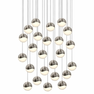 Sonneman 2918.13.LRG Grapes Modern Satin Nickel LED Large Multi Pendant Lamp