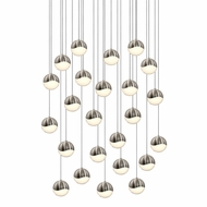Sonneman 2918.13.MED Grapes Contemporary Satin Nickel LED Medium Multi Hanging Lamp