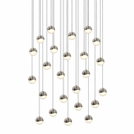 Sonneman 2918.13.SML Grapes Modern Satin Nickel LED Small Multi Hanging Light