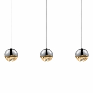 Sonneman 2920.01.LRG Grapes Contemporary Polished Chrome LED Large Multi Pendant Light Fixture