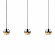 Sonneman 2920.01.MED Grapes Modern Polished Chrome LED Medium Multi Pendant Lighting Fixture