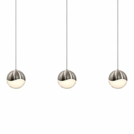 Sonneman 2920.13.LRG Grapes Modern Satin Nickel LED Large Multi Hanging Pendant Light