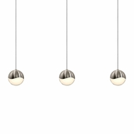 Sonneman 2920.13.MED Grapes Contemporary Satin Nickel LED Medium Multi Pendant Hanging Light