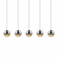 Sonneman 2921.01.MED Grapes Modern Polished Chrome LED Medium Multi Drop Ceiling Lighting