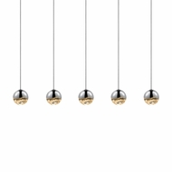 Sonneman 2921.01.SML Grapes Contemporary Polished Chrome LED Small Multi Ceiling Light Pendant