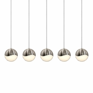Sonneman 2921.13.LRG Grapes Modern Satin Nickel LED Large Multi Ceiling Pendant Light